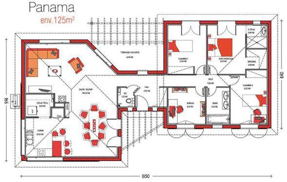 Modèle de maison Panama -  Retrouvez tous les types de maison à - plan pour construire sa maison