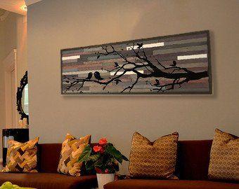 Playing in the Moonlight, Customizable Reclaimed Wood Wall Art - 41x21 #reclaimedwoodwallart