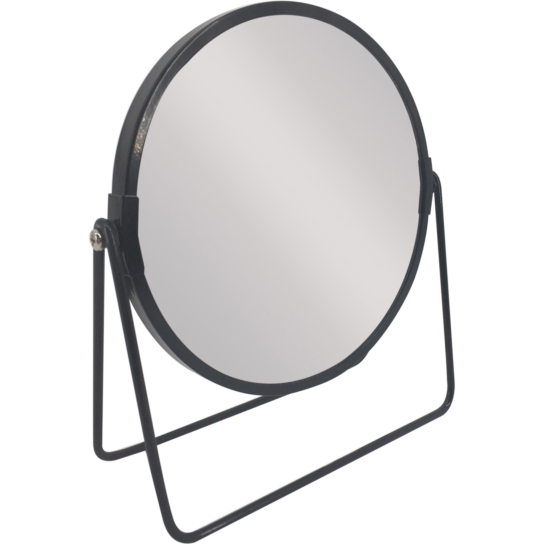 Miroir Grossissant X 2 Rond A Poser H 16 X L 16 X P 8 5 Cm Basic Noir En 2020 Miroir Metal Miroir Grossissant Miroir