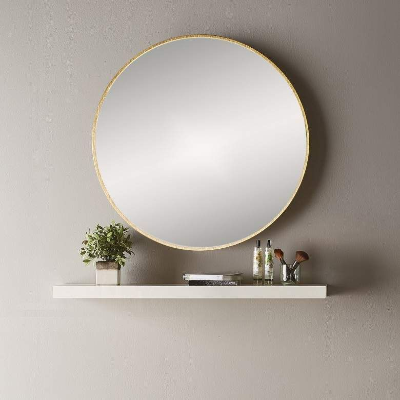 Bathroom Origins Docklands Round Mirror 600 X 600mm Round Mirror Bathroom Bathroom Mirror With Shelf Round Mirrors
