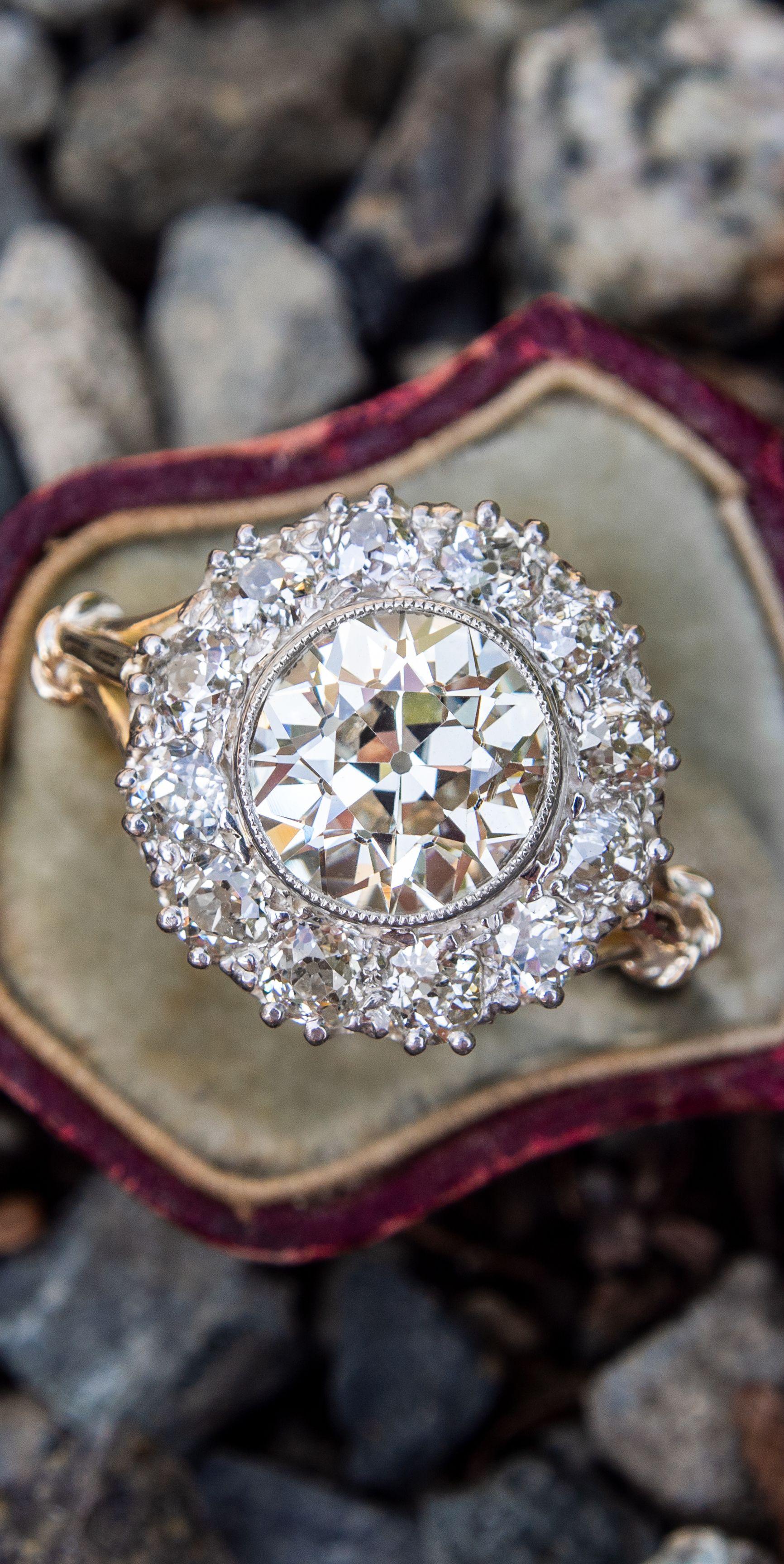 Vintage Victorian Design Rose Cut Diamond Ring Handmade Jewelry 925 Sterling Silver Ring Fine Quality Diamond