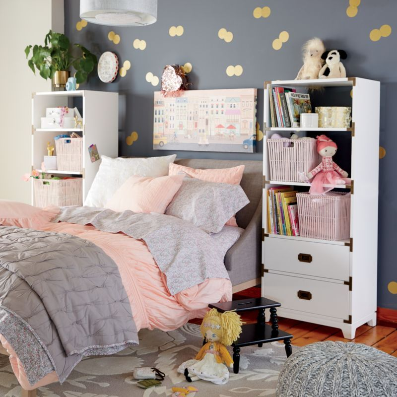 Gallery Grey Twin Wing Bed + Reviews | Crate and Barrel
