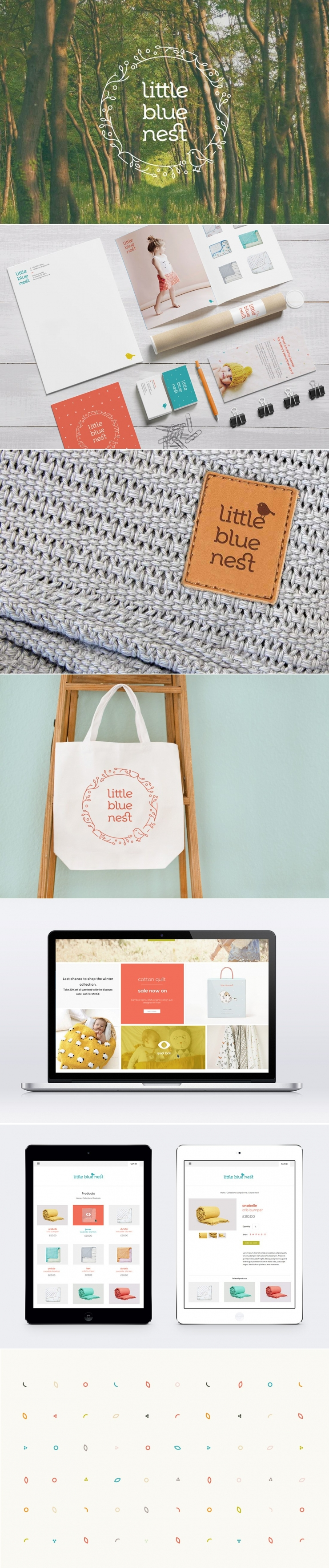 Little Blue Nest | Graphic design agency | Tonik | branding & graphic design for baby fashion brand. - created via https://pinthemall.net