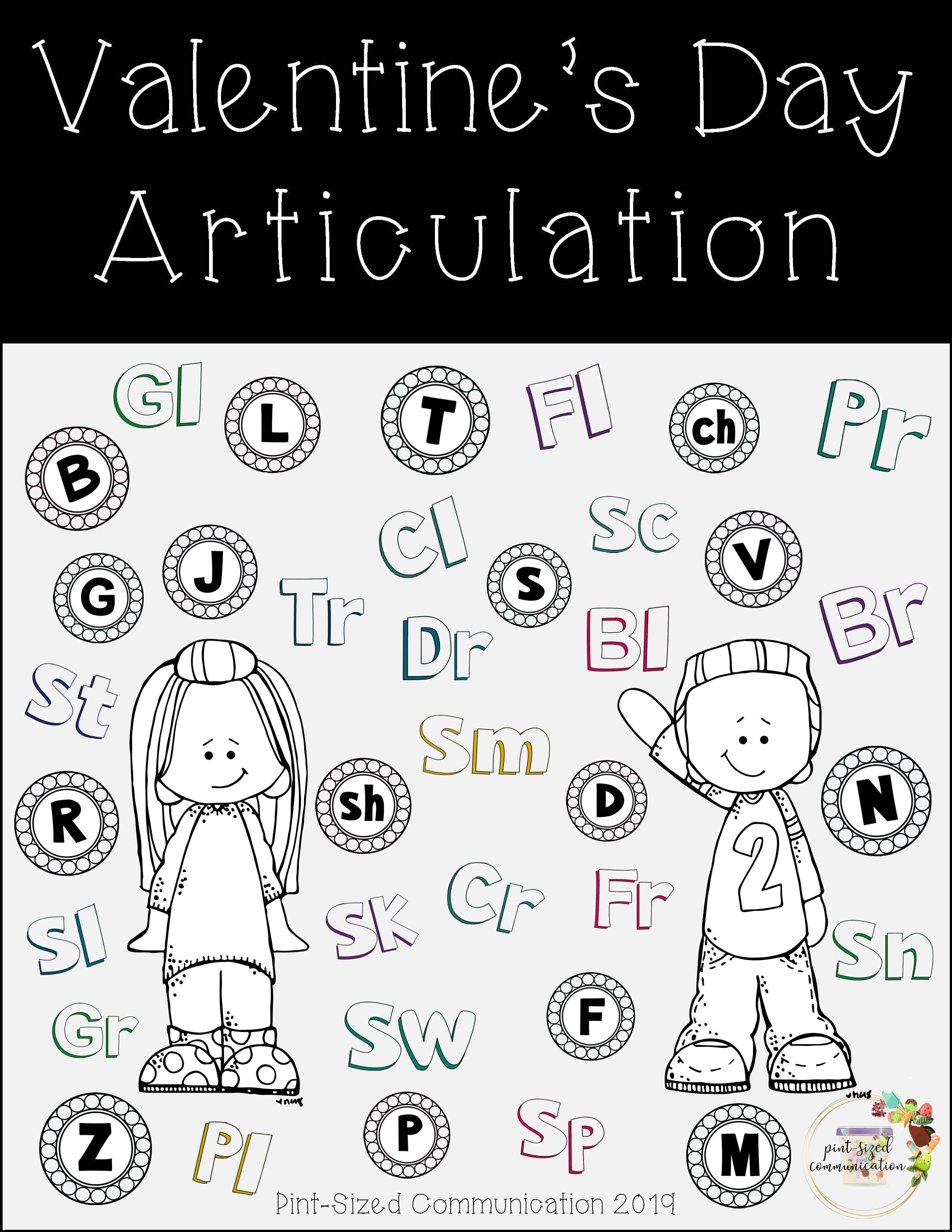 No Prep Valentine S Day Articulation Worksheets From Pint