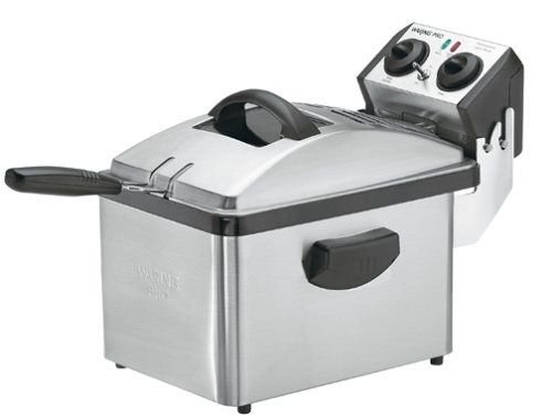 Waring Df200 Professional Deep Fryer Brushed Stainless Steel