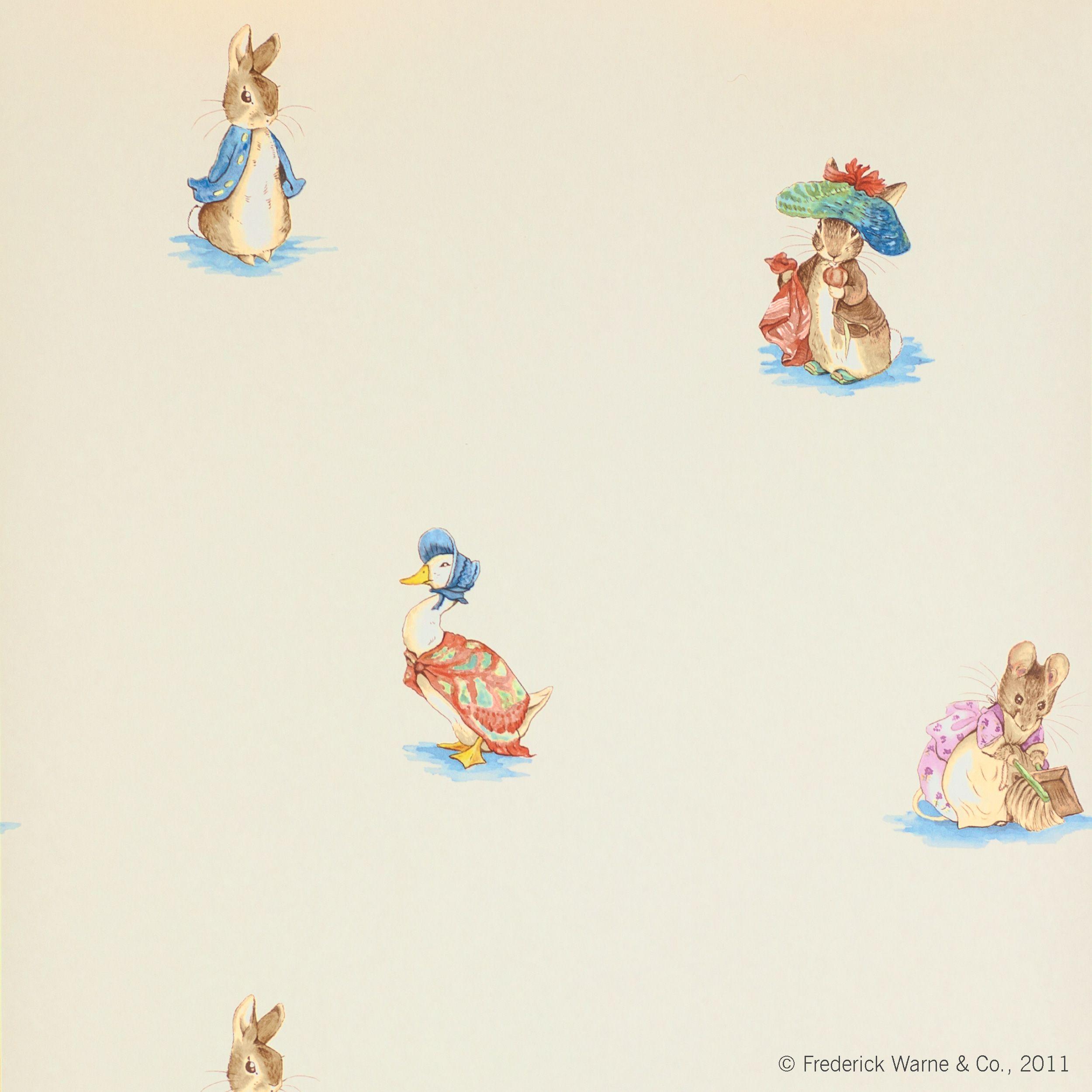 Jane Churchill Embroidered Beatrix Potter   Multi | Nursery ...