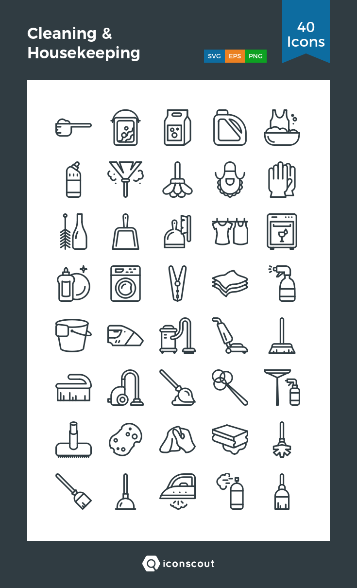 Download Cleaning Housekeeping Icon Pack Available In Svg Png Eps Ai Icon Fonts Cleaning Icons Housekeeping Icon