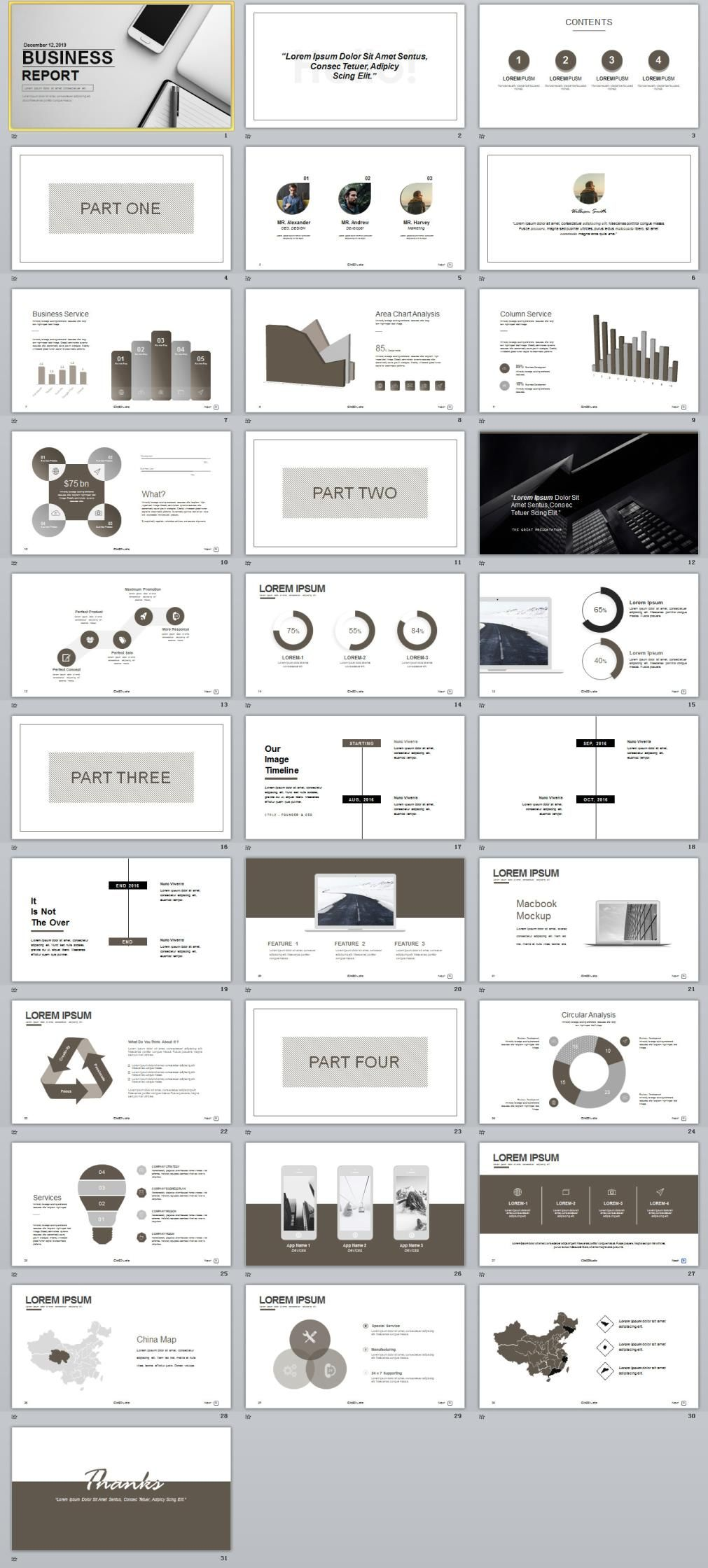 best business charts report powerpoint template dsgn presentation