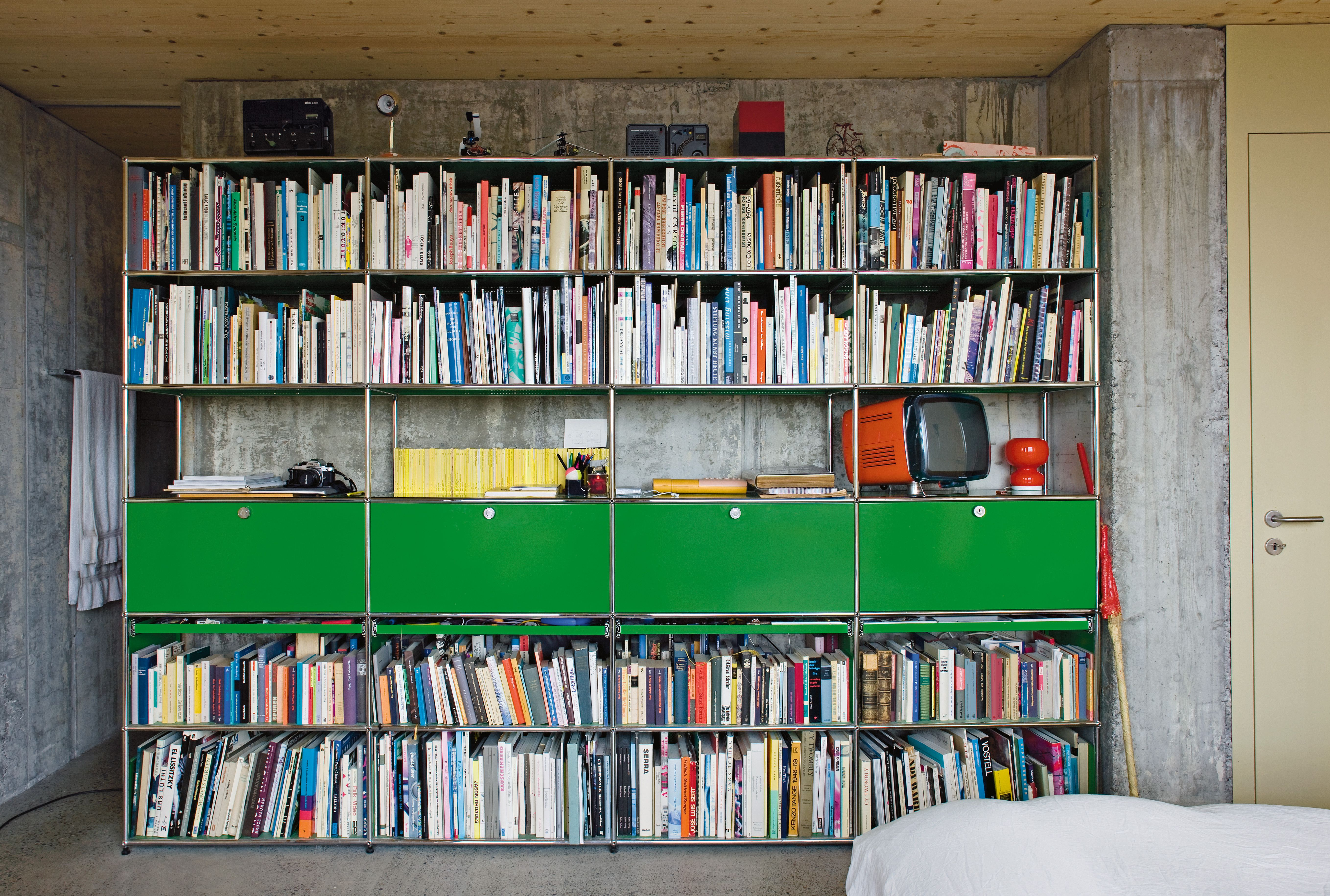 usm modular furniture product usm haller bookshelves house a modern design classic the usm haller modular furniture system was designed in this modular bookcase is customizable with drawers and doors