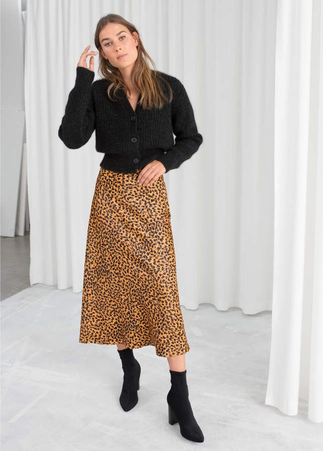 And other stories Leopard Print Midi Skirt a935cfdd6