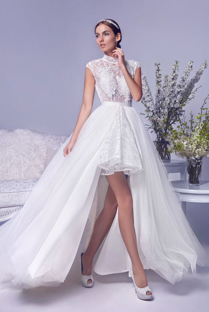 One gown, 2 ways to wear it! With a strikingly beautiful back and a ...