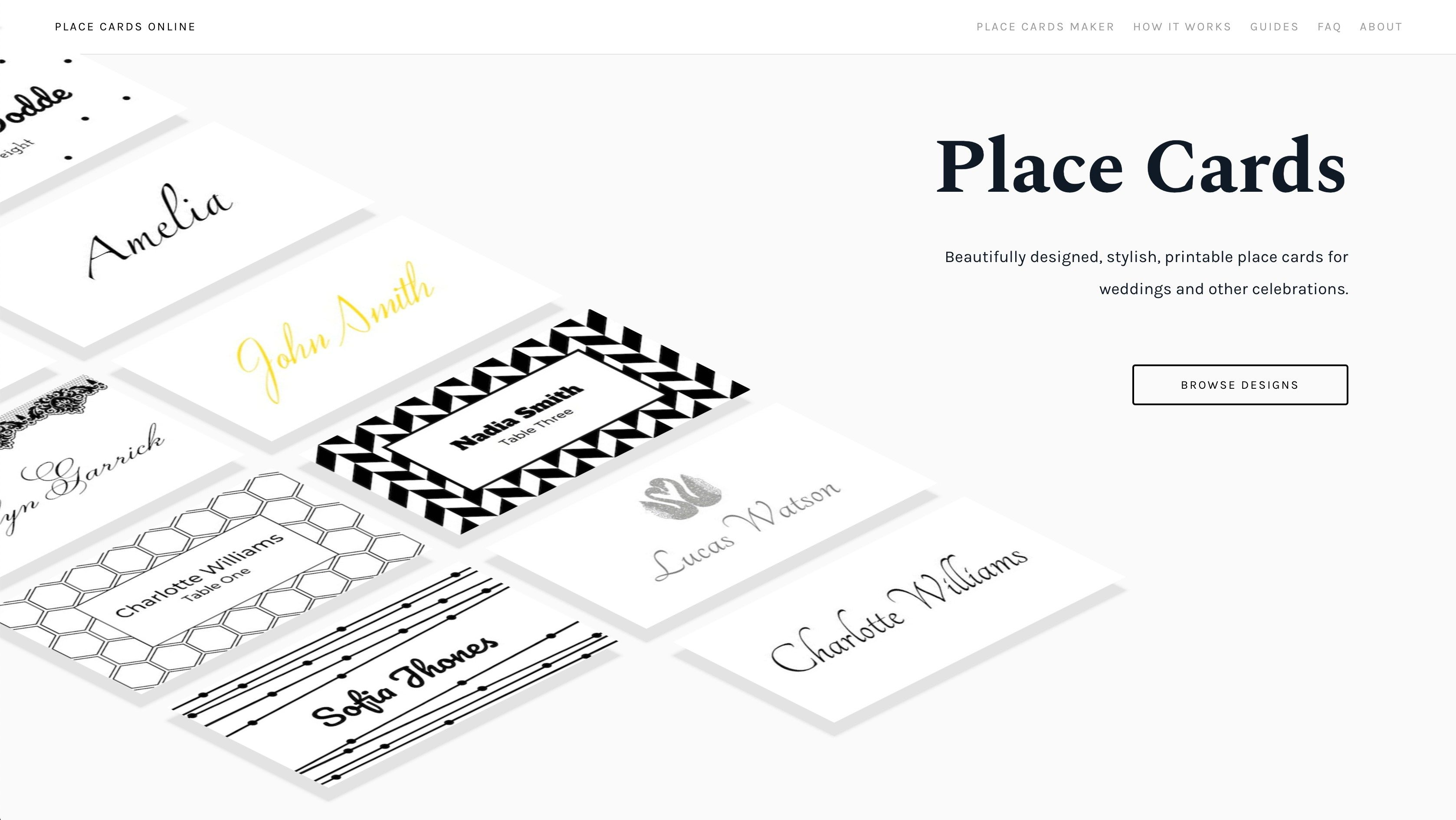 Place Cards Online Place Cards Maker Beautifully Designed Inside Celebrate It Te Printable Place Cards Templates Printable Place Cards Trading Card Template