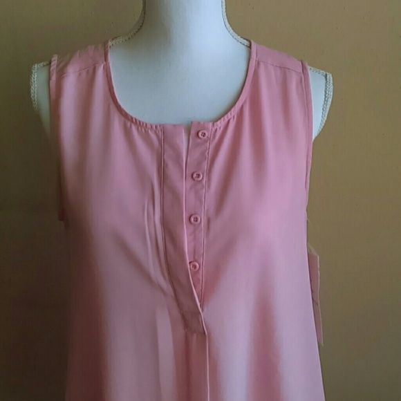 New Lapis pink blouse Beautiful is long from the back 100%polyster Lapis  Tops Blouses