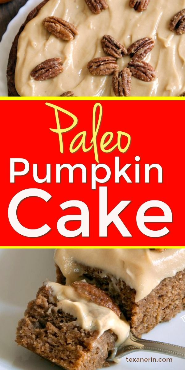 Delicious Paleo Pumpkin Cake  #creamfrosting