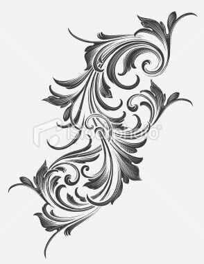 filigree design artistic pinterest tattoo ornamente tattoo ideen und barock tattoo. Black Bedroom Furniture Sets. Home Design Ideas