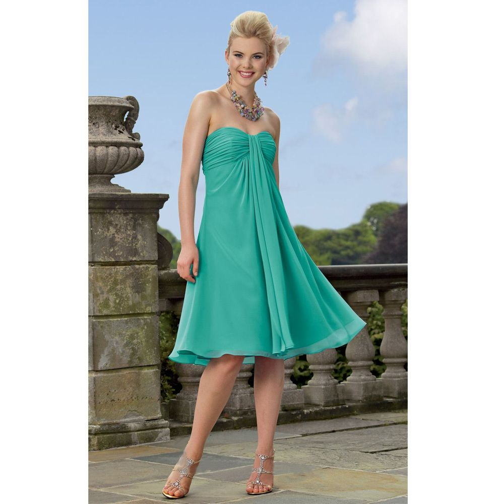 Click to Buy << Limited 2017 Green Short Bridesmaid Dresses Empire ...