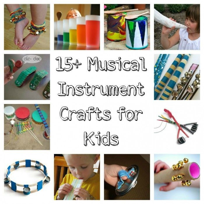 Craft Ideas For Kids Videos Part - 46: 15 Musical Instrument Crafts For Kids