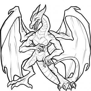 How to Draw an Anthro Dragon, Anthro Dragon, Step by Step