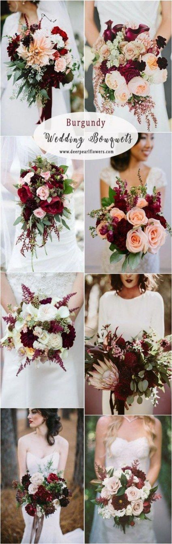 33 New ideas wedding flowers fall burgundy 33 New ideas wedding flowers fall burgundy