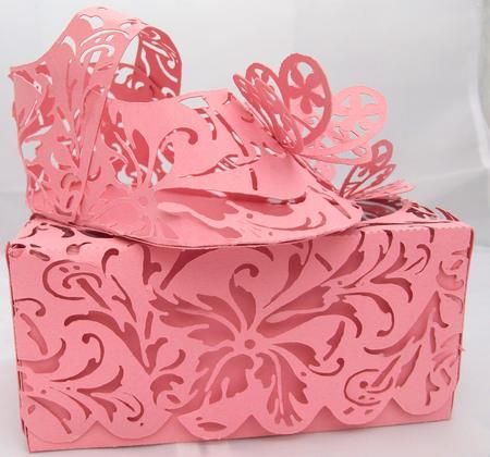 Robo Lacy Baby Shoe Box on Craftsuprint designed by Joanna Swinton - A beautiful lacy baby shoe in a lacy lidded box. I also added butterflies for the top of the shoe and box. Butterflies to wish the new baby freedom in a beautiful life.There is a tutorial on the forum under cardmaking tutorials 7466-baby-shoe-kits dated 6.1.2011 - Now available for download!