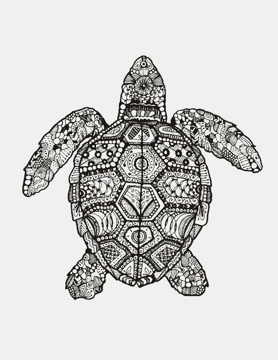 Animal Art Drawing Mandala White And Black First Set