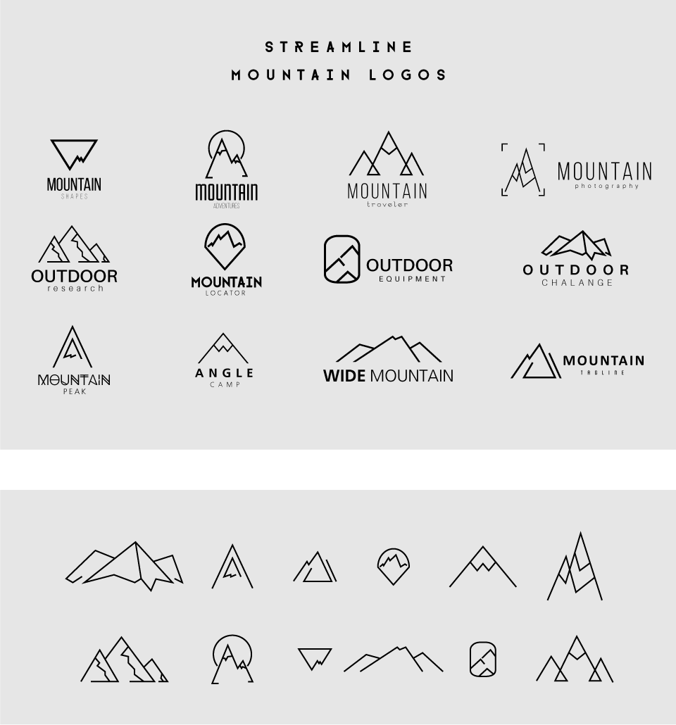 6de54c49b Streamline Mountain Logo Templates on Behance Simple Mountain Tattoo,  Mountain Tattoos, Mountain Logos,