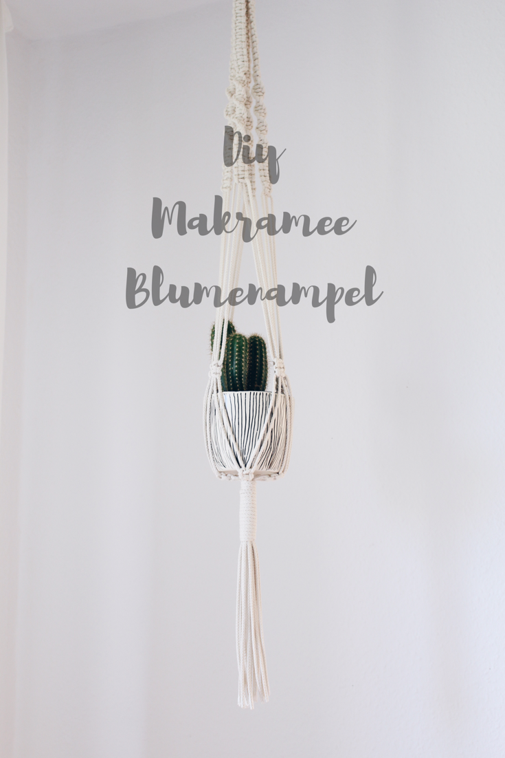 Diy Makramee Blumenampel Selber Machen Diy Dekoration Pinterest