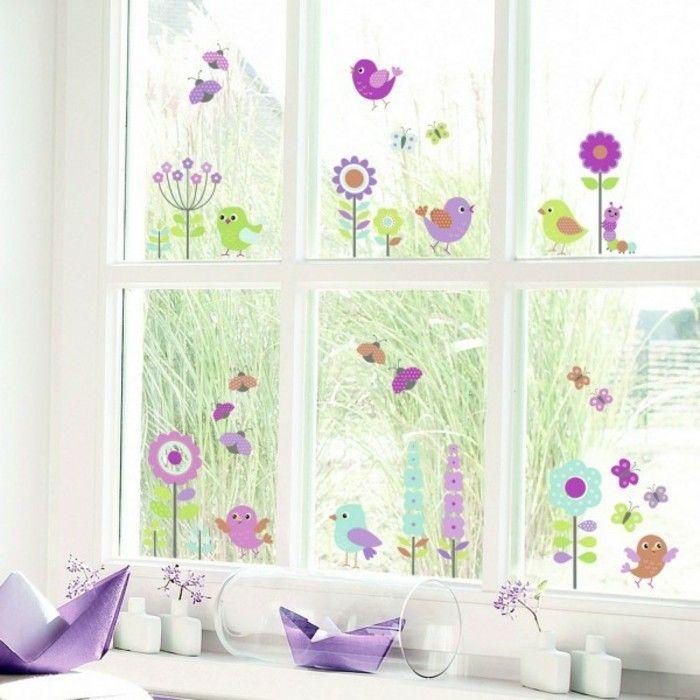 stickers pour vitres pour d corer et pour pr server votre intimit printemps curtains. Black Bedroom Furniture Sets. Home Design Ideas