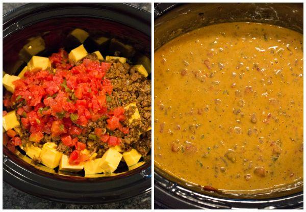 Easy Crock Pot Queso Dip Recipe Recipe Crock Pot Queso Spicy Beef Queso Dip Recipes