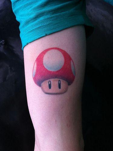 Mushroom Mario Flickr Photo Sharing Mushroom Tattoos