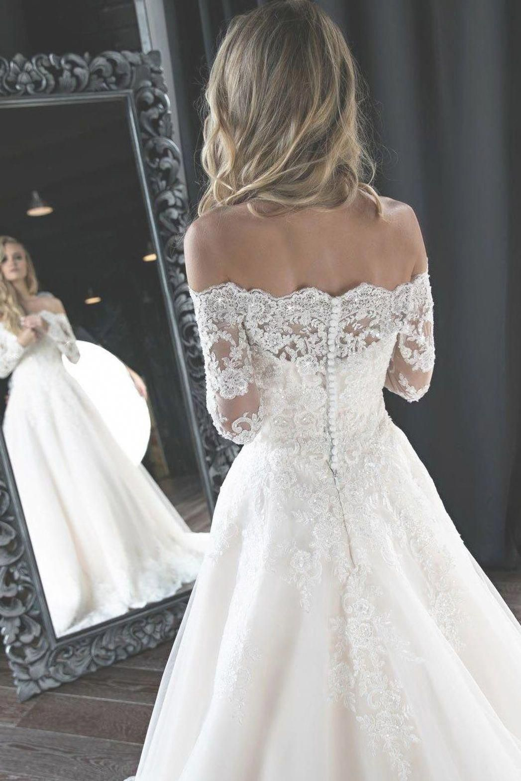 Long Sleeves Off The Shoulder White Lace Wedding Dress Weddingdresseswithslee Lace Wedding Dress With Sleeves Long Sleeve Wedding Dress Lace Lace Wedding Dres [ 1569 x 1047 Pixel ]
