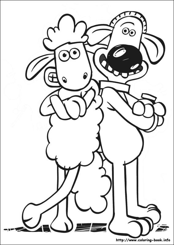 Shaun The Sheep Online Coloring Pages Printable Book For Kids 2