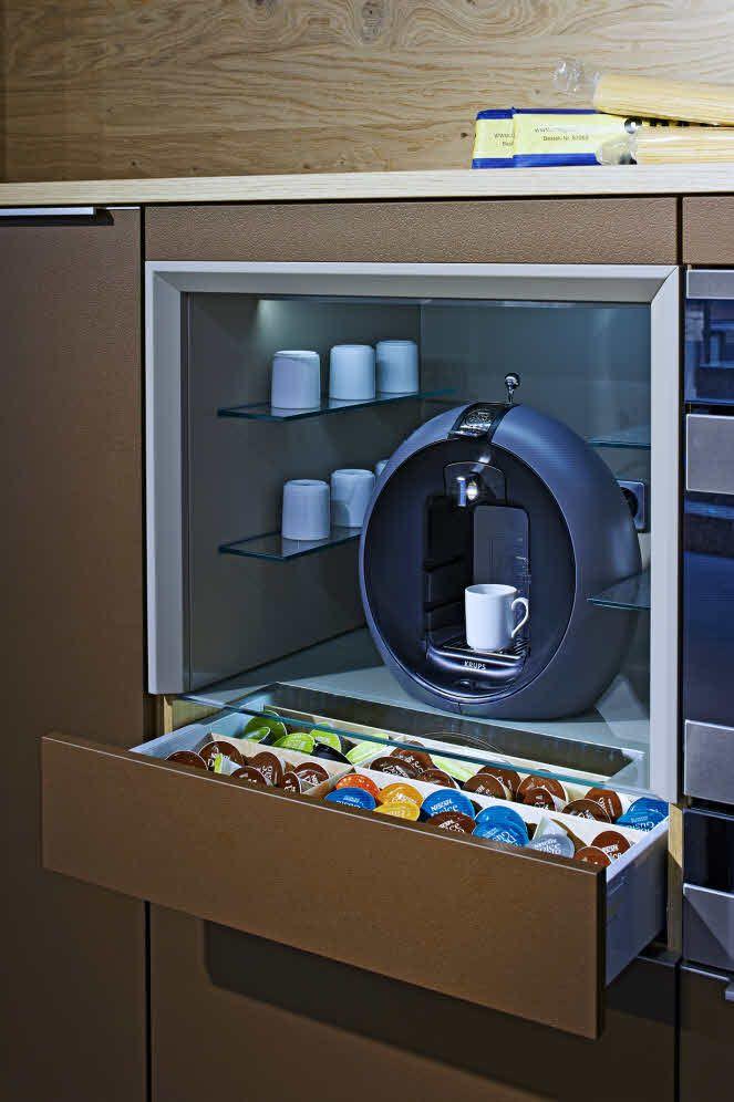 Goldreif Profile Coffee Unit Showroom Herford Modern Kitchen Cabinets Brooklyn Kitchen Kitchen Design
