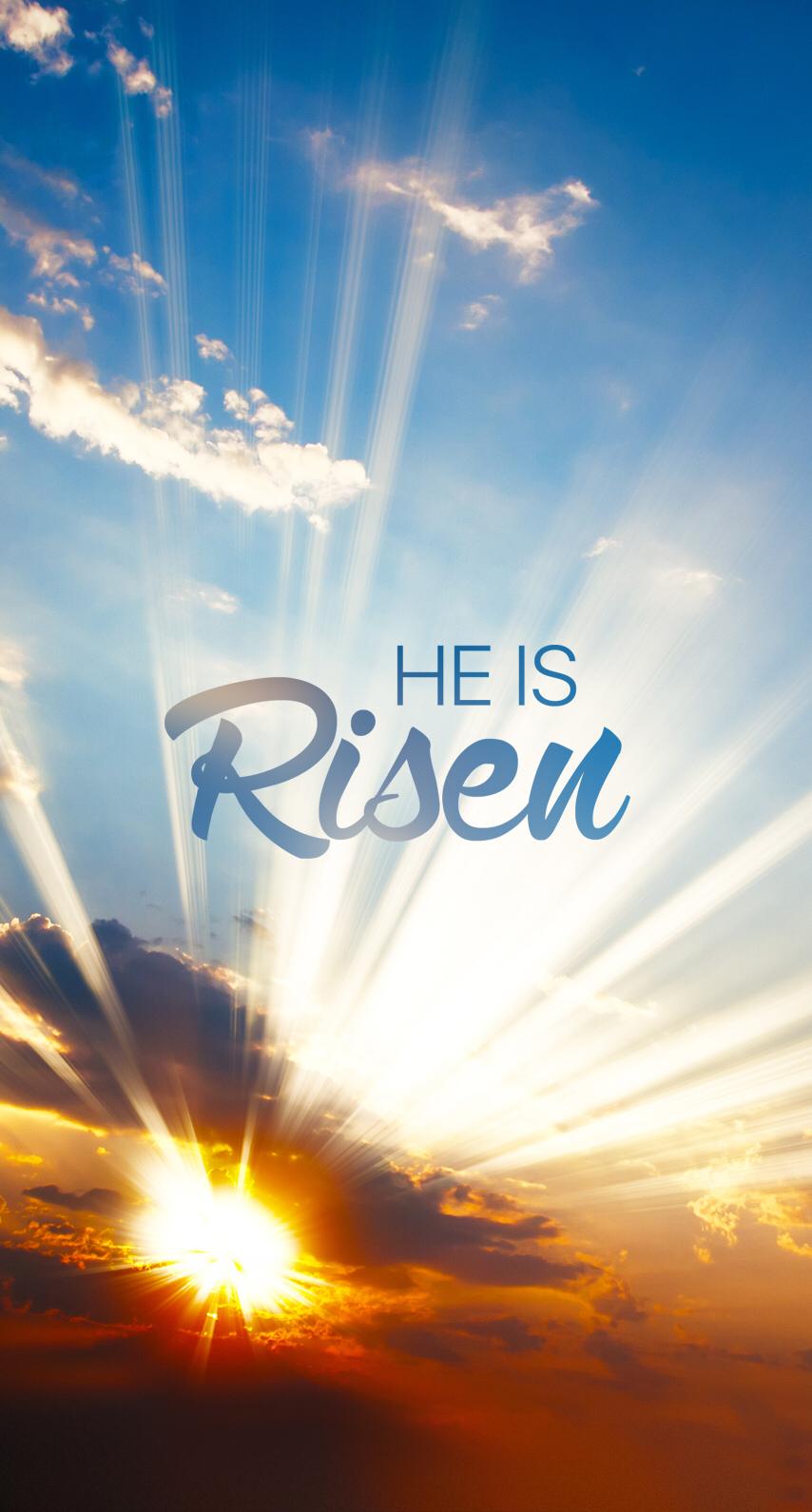 iPhone Wall Easter tjn Jesus is risen, Easter wallpaper