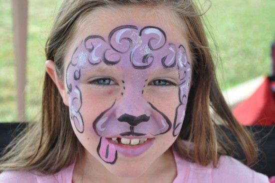 face fantasy face painting poodle face fantasy face painting pinterest face paintings and face. Black Bedroom Furniture Sets. Home Design Ideas