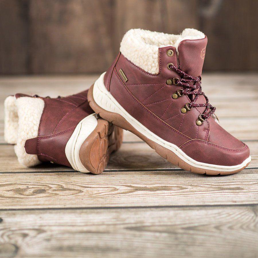 Arrigo Bello Cieple Buty Zimowe Czerwone Winter Shoes Boot Shoes Women Shoes
