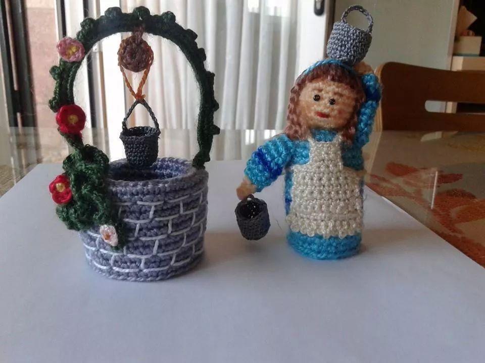 Amigurumi Navidad Nacimiento : Pozo portal de belen amigurumi amigurumi navidad