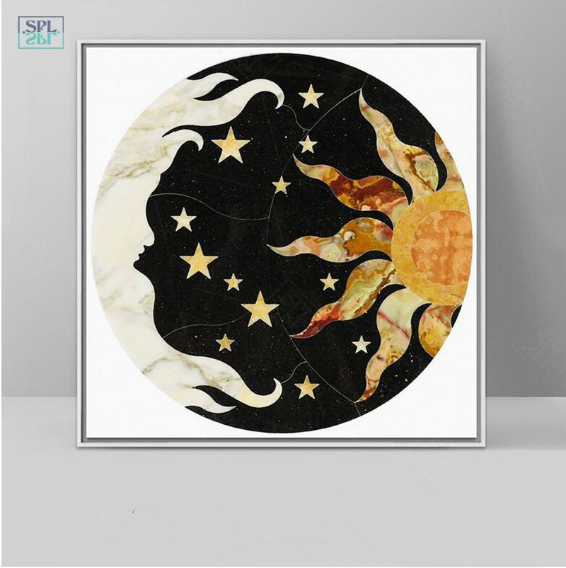 Myths Illustration Sun Moon Star Wall Picture Nordic Decoration Canvas Art Print Poster And Painting Canvas Art Prints Posters Art Prints Poster Prints