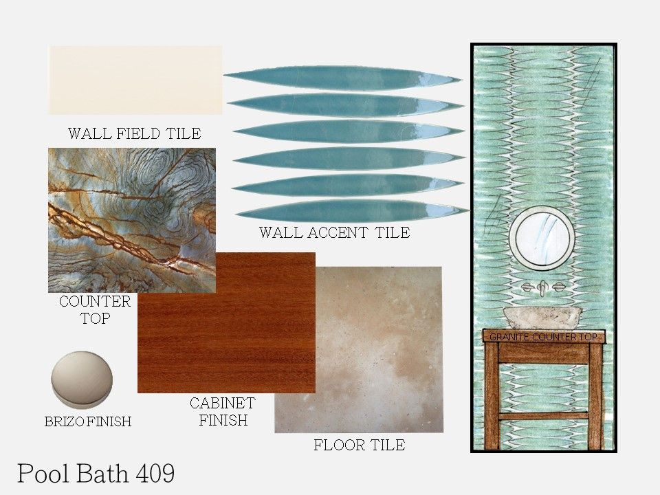 Hawaiian inspiration and working with an interior designer. Powder bath design inspiration. Great design ideas.