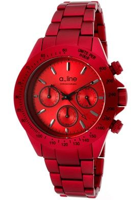 5ef67baa687b a line Watch 20050-RD Women s Amore Chronograph Red Dial Red ...