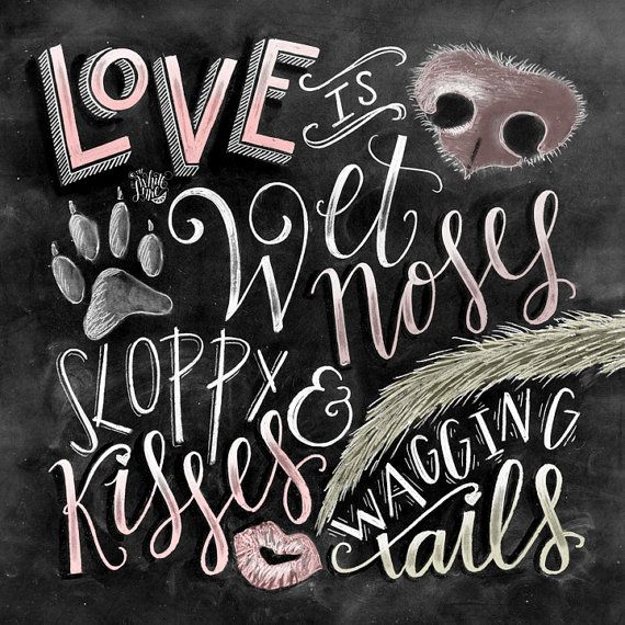 ART PRINT Life is Better with Friends Quote Inspirational Cat Dog Gift Wall Art
