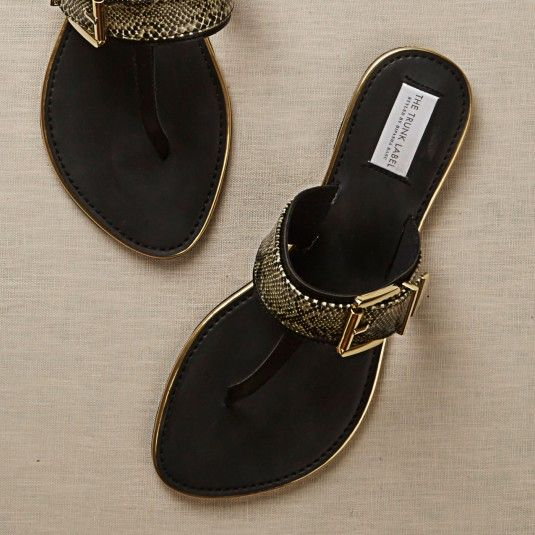 Kolhapuri Style Metal Flats - SHOES - Accessories
