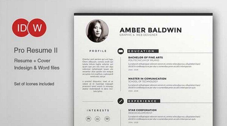 Cv Template Adobe Illustrator | 1-Cv Template | Microsoft ...