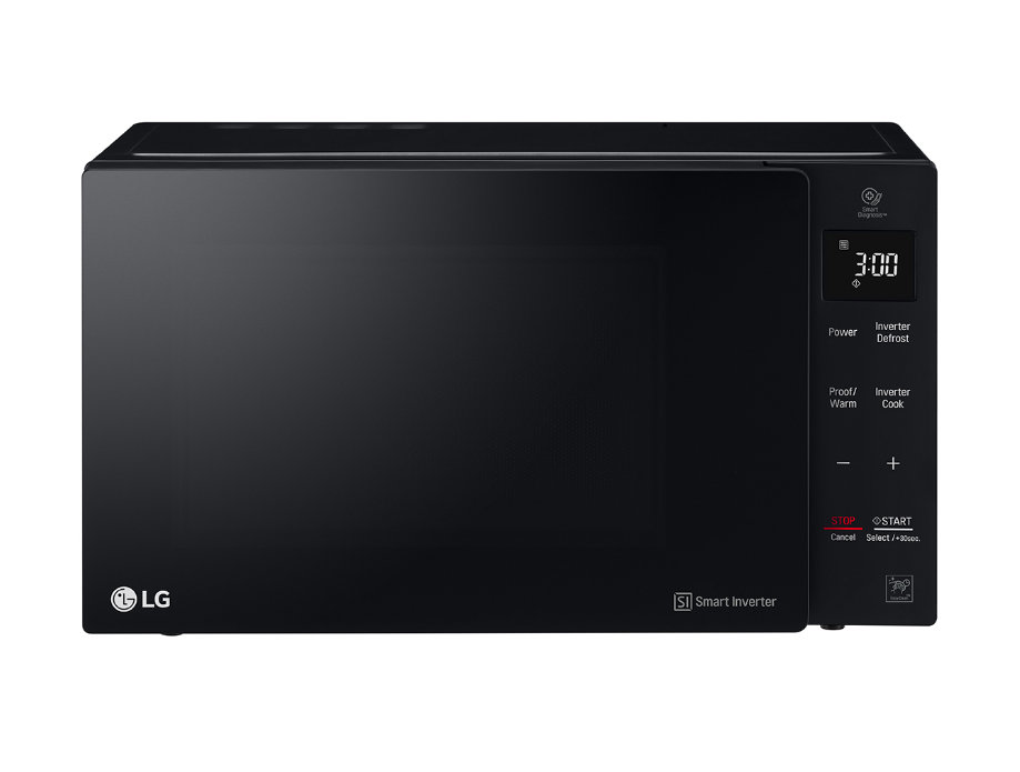Lg 25l Neochef Black Microwave Oven With Smart Inverter Ms2535gis