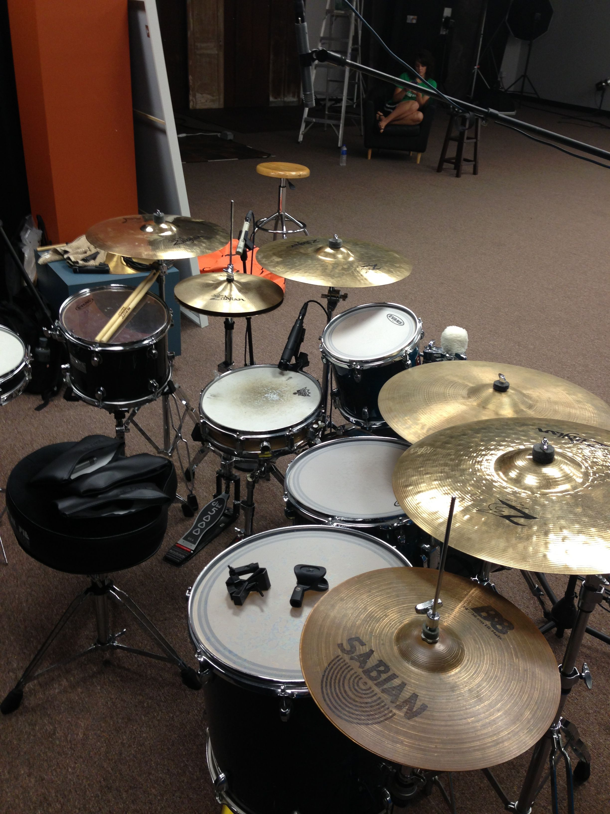 Studio Set Up Kit Drum Cover With Images Drums