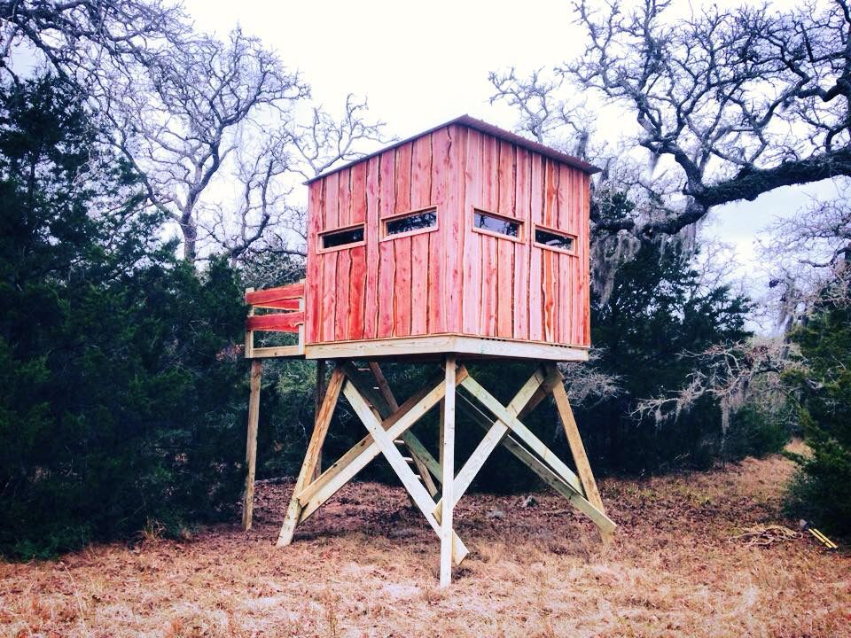 8x8 blind on 8 ft tower msg me for questions deer for Elevated hunting blind designs