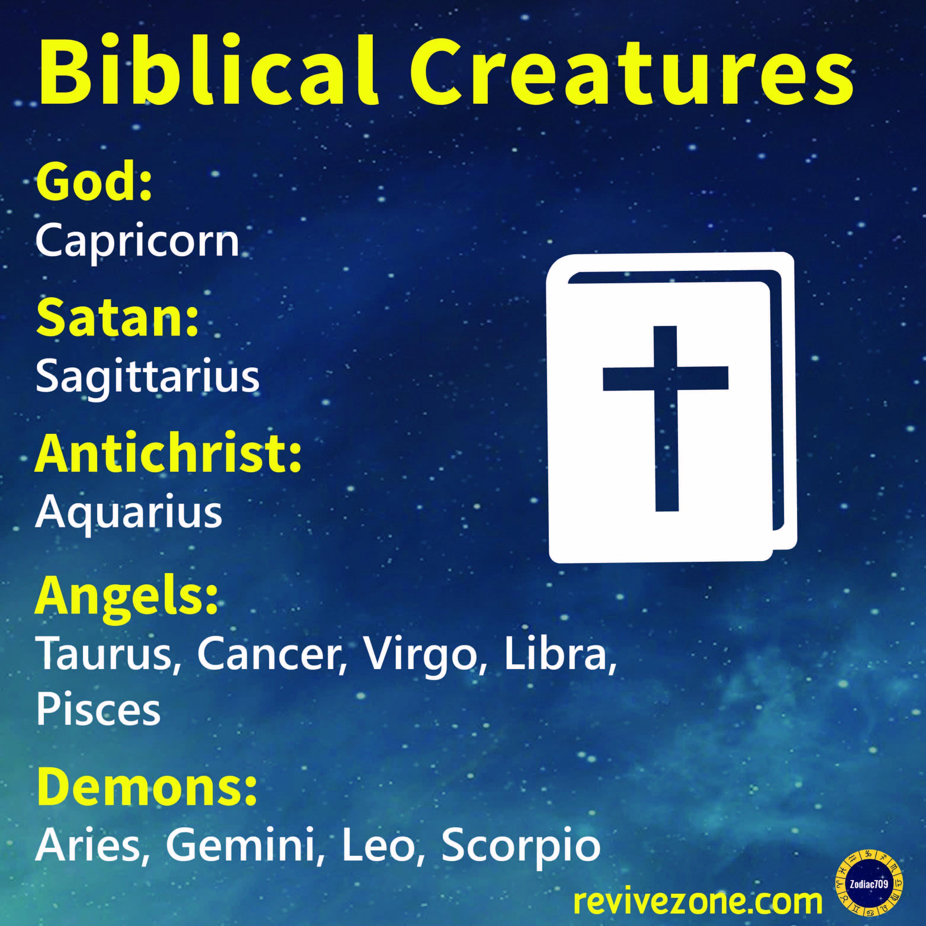 zodiac signs as Biblical creatures, aries, taurus, gemini, cancer