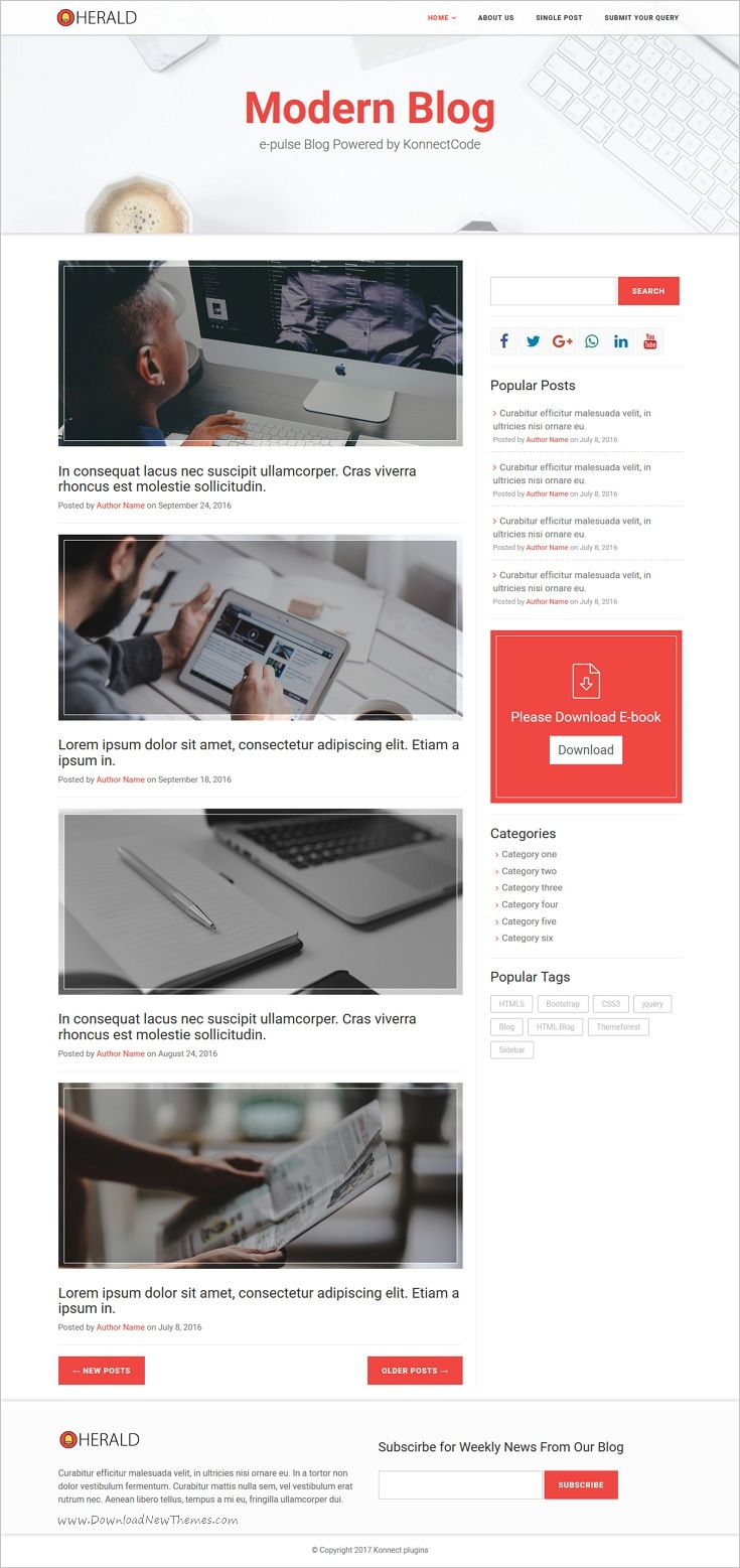 Comfortable Blog Html Template Ideas - Professional Resume Example ...