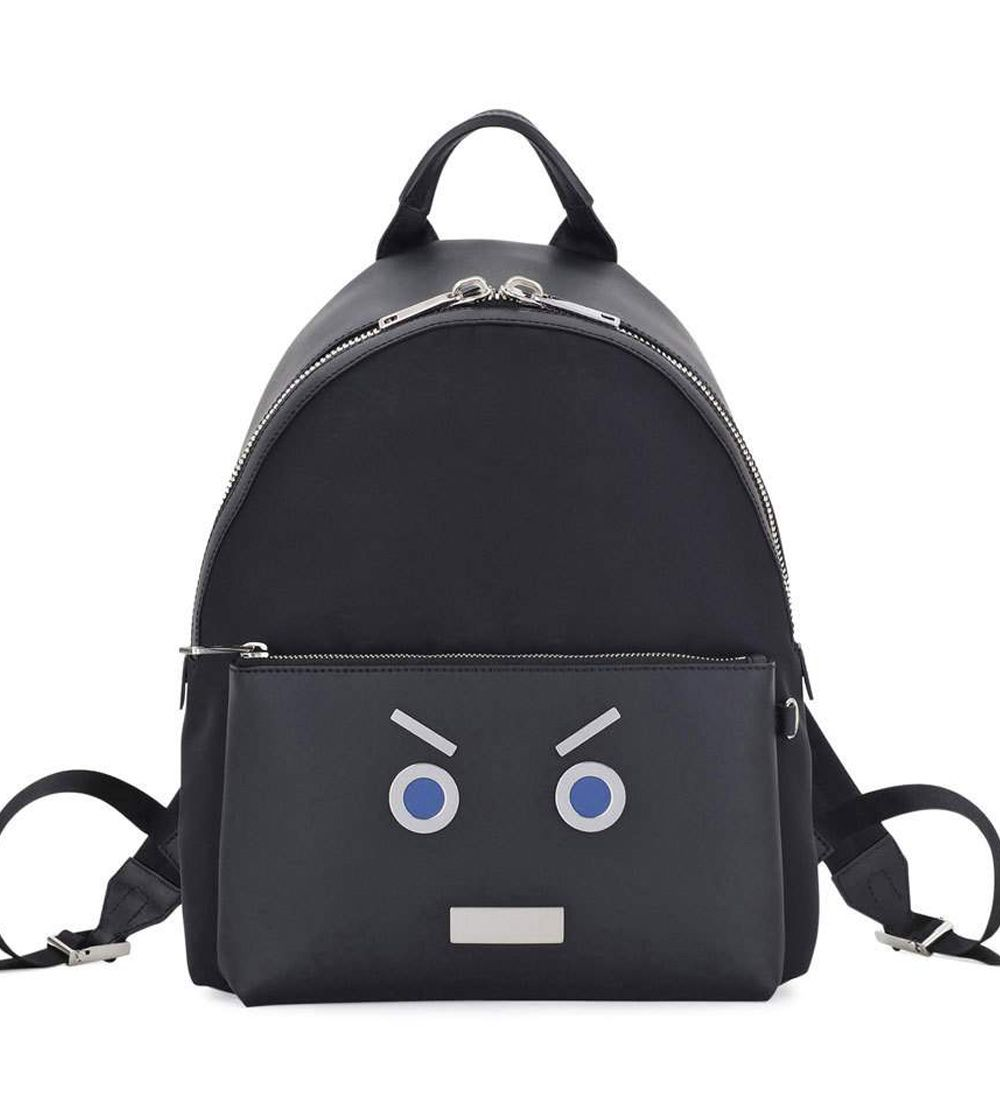 81e2ac7fd51b12 Fendi Face Calfskin Leather Backpack Black/Blue $259.00 | bag ...