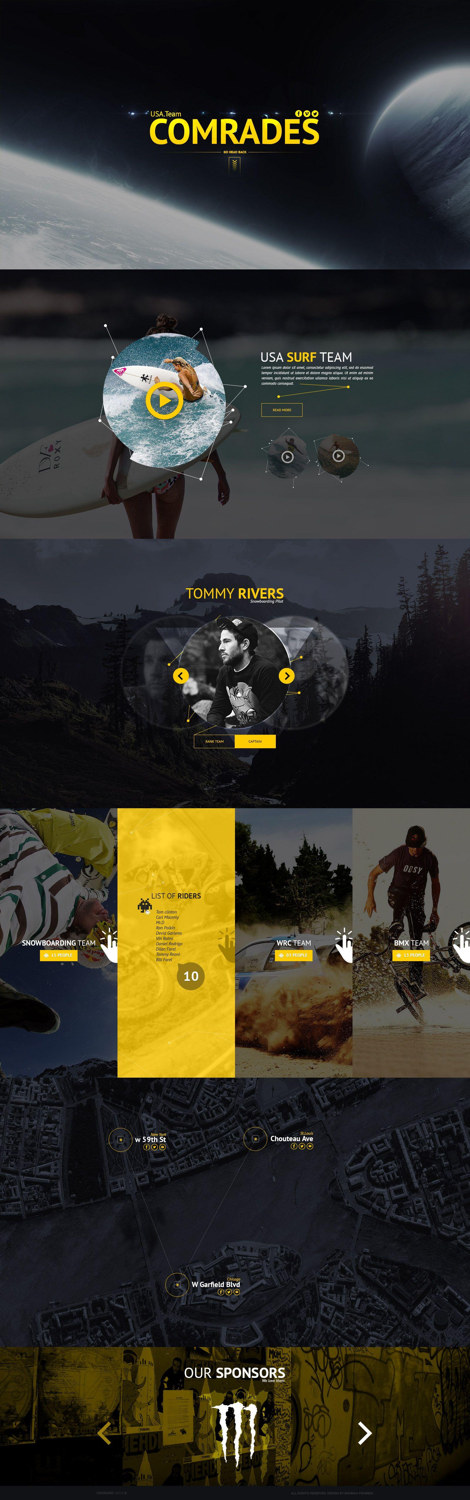Landing Page - USA. Team Comrades by Shizoy.deviantart.com on @DeviantArt